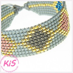 BRANSOLETKA TKANA KiS SUPER LIGHT GREY