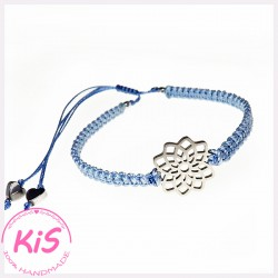 BRANSOLETKA MAKRAMOWA KiS MINI LIGHT BLUE