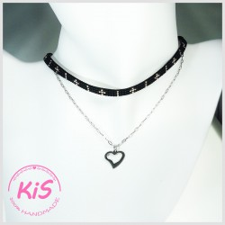 KiS FROSTED BLACK CHOKER