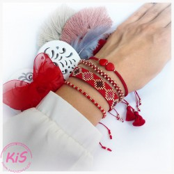 ZESTAW BRANSOLETEK KiS ONLY RED