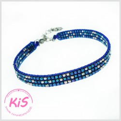 Bransoletka tkana KiS MINI DARK BLUE