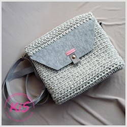 TOREBKA ZE SZNURKA KiS MINI BAG 4U LIGHT GREY